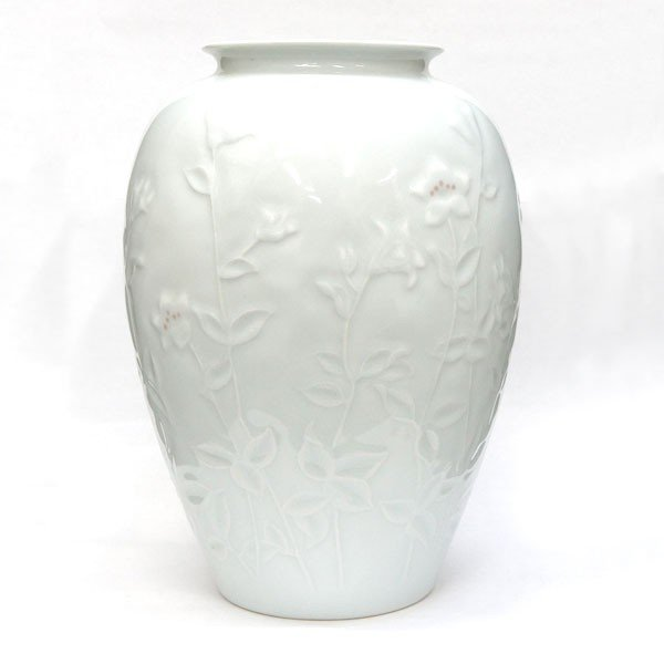 thumbnail 4 - Korean Living National Treasure Shin Souhiro White Porcelain Vase H 24.5cm Used
