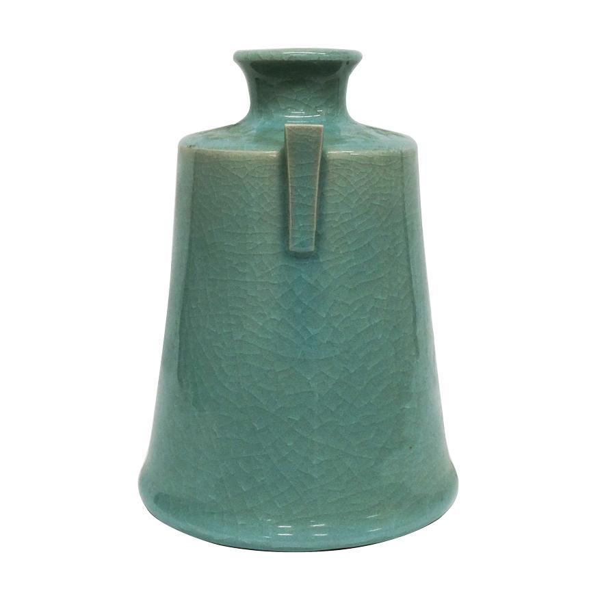 堂前忠正 青磁壺 花器 花瓶 花入 共箱 y-258 antiquesjikoh 02