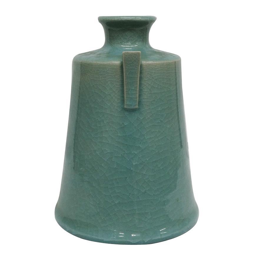 堂前忠正 青磁壺 花器 花瓶 花入 共箱 y-258 antiquesjikoh 04