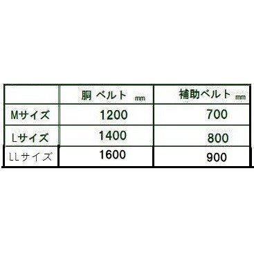 「80d-120-M-zaiko 」 腰ベルトMサイズ 胴(45mm巾)補助(100mm巾) 特注品 藤井電工|anyoujiya-1|03