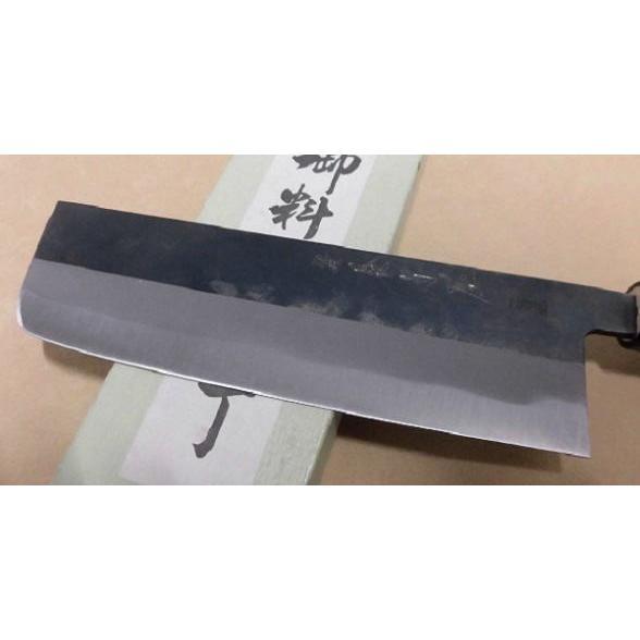 菜切り包丁「houtyou-n-03」野菜切ほうちょう ながた 和鉄鋼 黒打ち 錆びます|anyoujiya-1