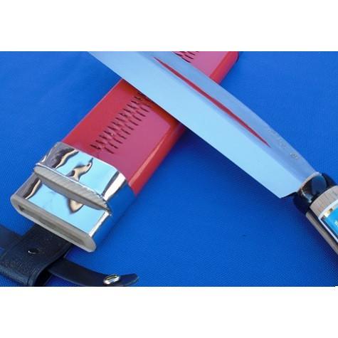 片刃サヤ鉈「sayanata-k-21」長さ173mm刃巾46mm重さ440g 木鞘付 手造り 製造直販 鍛造打ち刃物