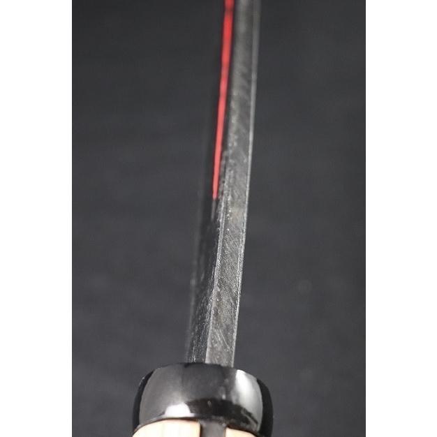 両刃サヤ鉈 「sayanata-m-65-2」刃巾50mm 刃の長さ195mm 柄の長さ195mm 柄付重さ560g 赤吊り革木鞘付 anyoujiya-1 02