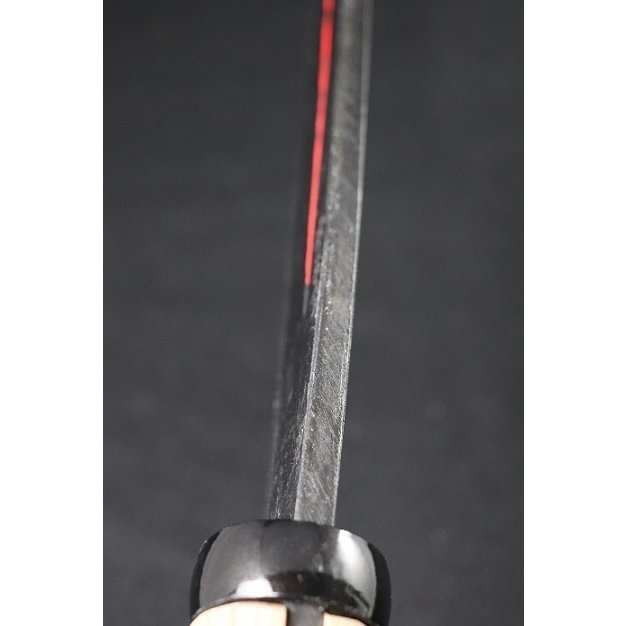 両刃サヤ鉈 「sayanata-m-65」刃巾48mm 刃の長さ195mm 柄の長さ195mm 柄付重さ450g  赤吊り革木鞘付 anyoujiya-1 02