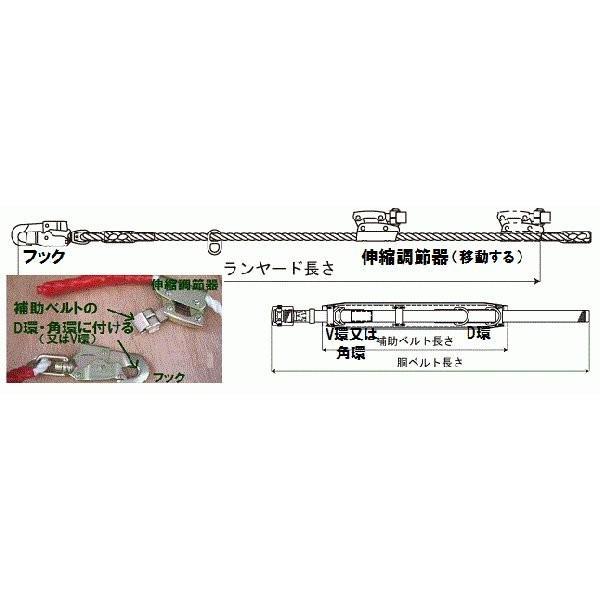 「WP-63D-527」電気工事用ランヤード 1本吊り兼用 右利き用 ワイヤ-なし|anyoujiya-1|02
