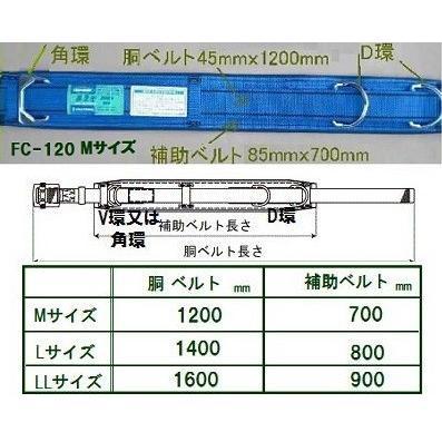 U字吊り安全帯「WP- FC-22-W-M 」ワイヤ入り2100mm anyoujiya-1 03