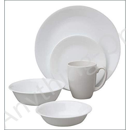 ★新品★Corelle 1088656 Livingware Winter Frost White 30-Piece Dinnerware Set, Service for 6 by CORELLE【並行輸入品】