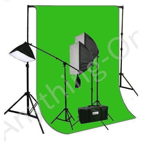 新品 ePhotoInc 3200·Kウォームライト3ソフトボックス写真撮影ビデオStudioブームスタンドヘアChromakey照明wi