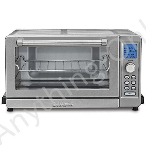 """【新品】Cuisinart TOB-135 Deluxe Convection Toaster Oven Broiler, Brushed Stainless, 9.3"""" x 18.3"""" x 15.3"""", Silver"""