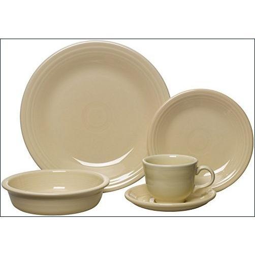 ★新品★Fiesta Dinnerware 855330 ダイニングセット アイボリーホワイト 20点セット【並行輸入品】