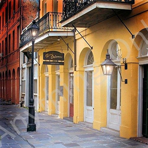 新品 写真バックドロップ·French Quarter Alley Daytime·10·x 10·ft。·100·%シームレスなポリエステ