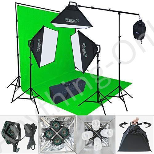 新品 Linco lincostore 2400ワットフォトスタジオ照明緑10·x 20ft背景写真背景スタンドライトキットam144-g並行