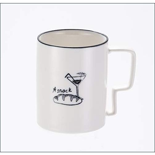 ★新品★セラミックマグカップ コーヒーティーカップ ブラックラインクリエイティブハンドル付き マグカップ|anything-online-shop
