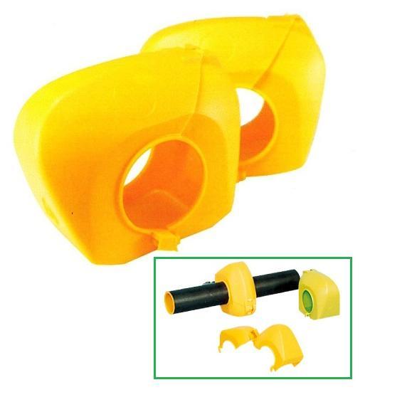 ハイカバー(硬質) クランプカバー 二つ割れタイプ 単管クランプ養生用  100個セット