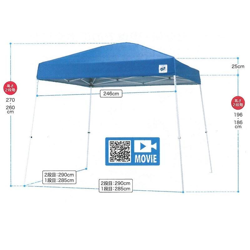 簡易テント 熱中症対策テント イージーアップ・テント 2.9m×2.9m  CN5603-B