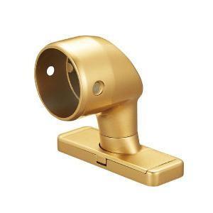 【お取り寄せ】 セレクト 手すり部材 ゴールド BAUHAUS BE-58G 32首振スリムエンドブラケットカバー付-介護用品