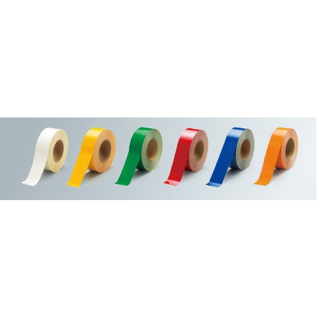 床貼用テープ(再はく離) ユニテープ(PET) オレンジ オレンジ オレンジ e50
