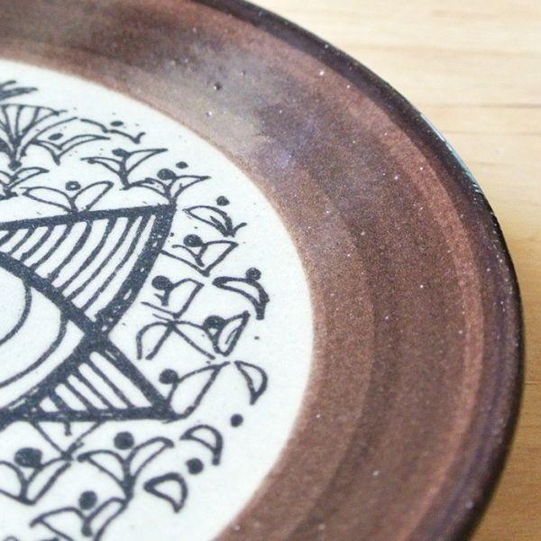 再入荷なし■皿 Lisa Larson リサ・ラーソン・ジャパニーズシリーズ プレート 5.5寸皿 平皿 益子の皿 益子焼 北欧 1万円以上送料無料|aodama-zakka|03