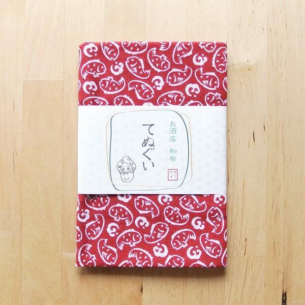 再入荷なし■てぬぐい 鯛 日本製 赤 和布 タオル タイ お祝い 送料200円 1万円以上送料無料|aodama-zakka