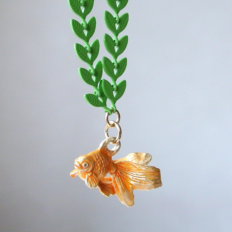 ネックレス 金魚 水底のお嬢さん Palnart Poc パルナートポック 浴衣コーデ 水草 NE375 送料200円 1万円以上送料無料|aodama-zakka|12