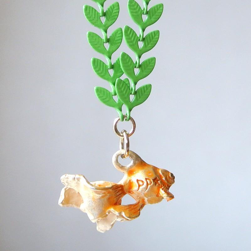 ネックレス 金魚 水底のお嬢さん Palnart Poc パルナートポック 浴衣コーデ 水草 NE375 送料200円 1万円以上送料無料|aodama-zakka|13