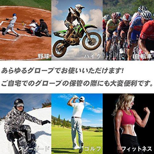 Clarente ゴルフグローブハンガー 型崩れ させずに 干せる 外れにくい 手袋ホルダー aohama-y 07