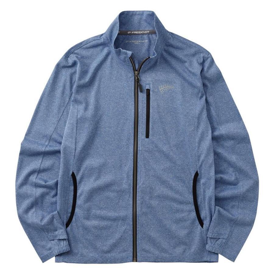 BOWBUWN ジップアップジャケット ブルー Y1440-M-70