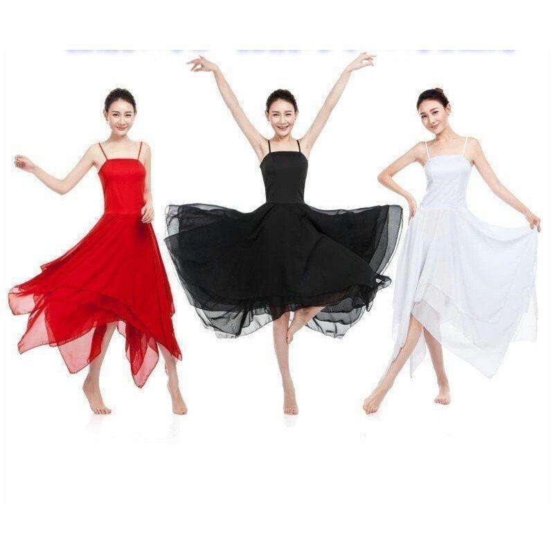 最安値に挑戦 二点女性大人バレエダンスワンピースモダンダンス衣装社交ダンスワンピースシフォン重ねタンゴワルツダンス衣装ダンスレッスン練習舞台衣装 安心の定価販売