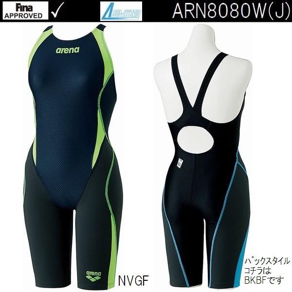 ARN8080W NVGF Mサイズ FINA承認モデル 競泳水着 レディース ARENA アリーナ アクアハイブリッド セイフリーバックスパッツ 着やストラップ
