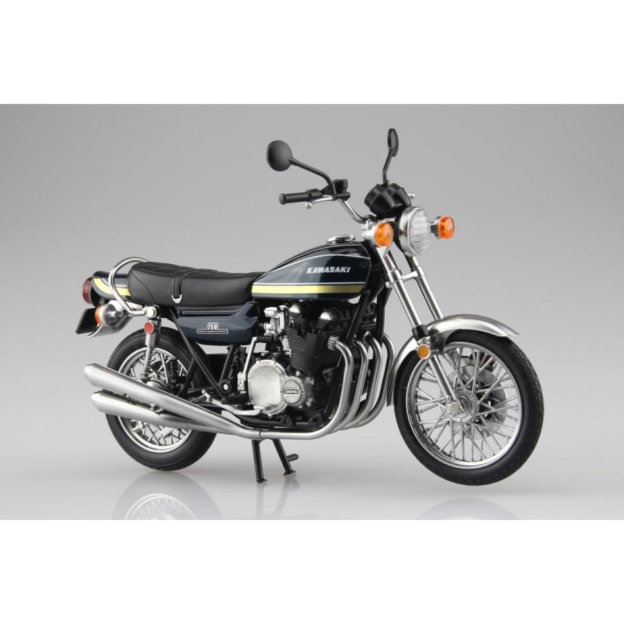 KAWASAKI 750RS(Z2) 玉虫ブルー 1/12 完成品バイク #完成品|aoshima-bk