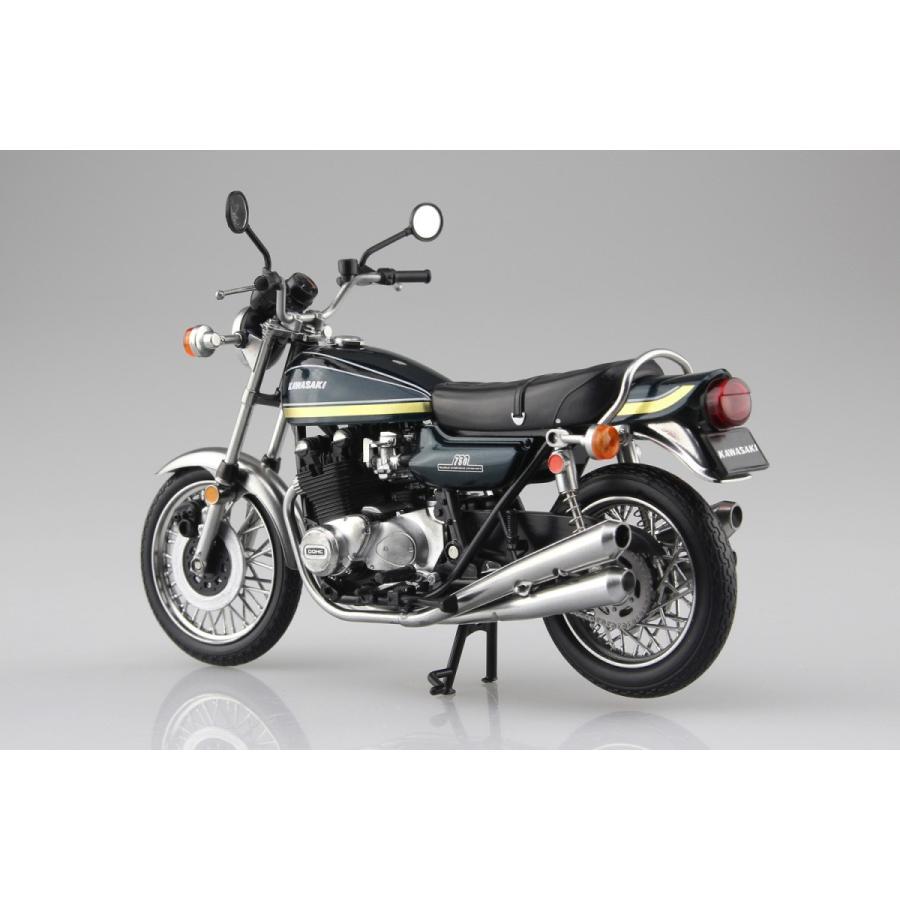 KAWASAKI 750RS(Z2) 玉虫ブルー 1/12 完成品バイク #完成品|aoshima-bk|02