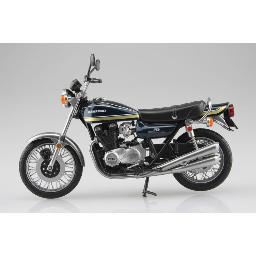 KAWASAKI 750RS(Z2) 玉虫ブルー 1/12 完成品バイク #完成品|aoshima-bk|03