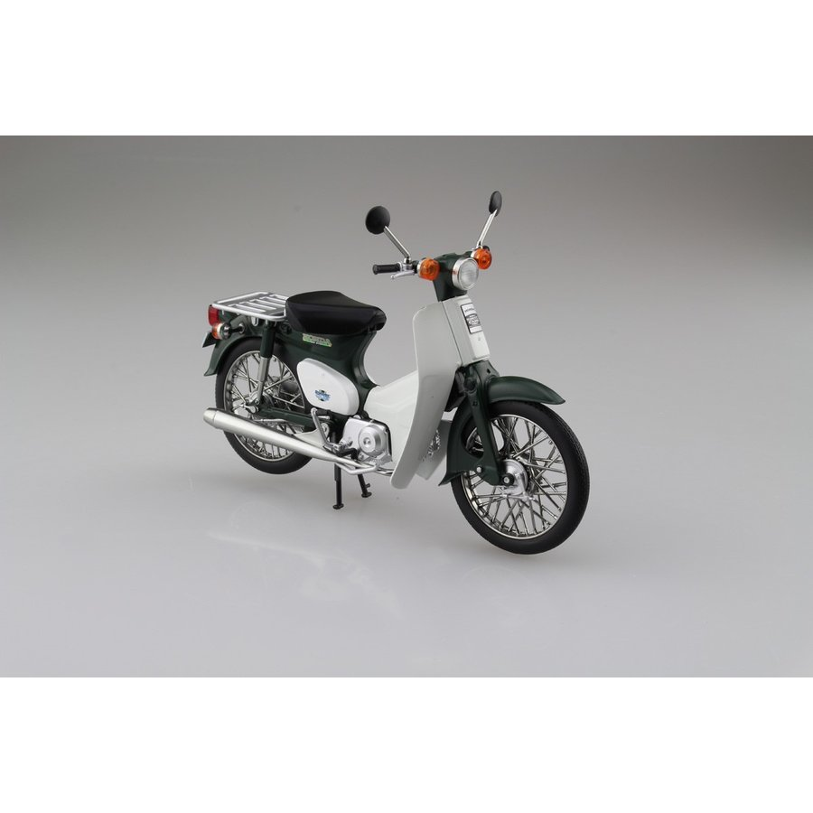Honda スーパーカブ50 グリーン 1/12 完成品バイク     #完成品 aoshima-bk 02