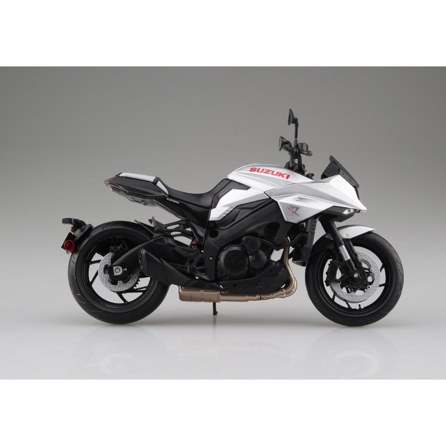SUZUKI GSX-S1000S KATANA メタリックミスティックシルバー 1/12 完成品バイク   #完成品|aoshima-bk|03