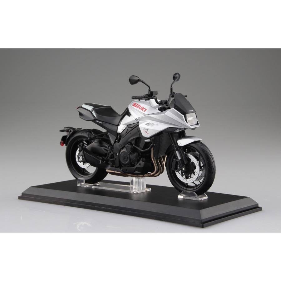 SUZUKI GSX-S1000S KATANA メタリックミスティックシルバー 1/12 完成品バイク   #完成品|aoshima-bk|05