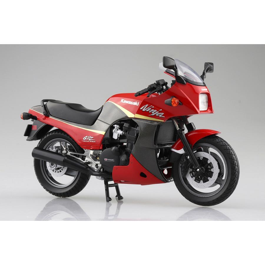 KAWASAKI GPZ900R  (赤/灰)  1/12 完成品バイク #完成品|aoshima-bk