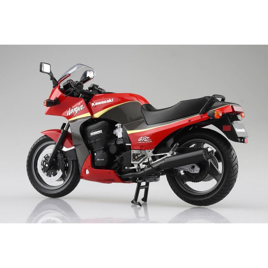 KAWASAKI GPZ900R  (赤/灰)  1/12 完成品バイク #完成品|aoshima-bk|02