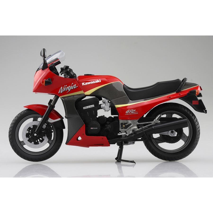 KAWASAKI GPZ900R  (赤/灰)  1/12 完成品バイク #完成品|aoshima-bk|05