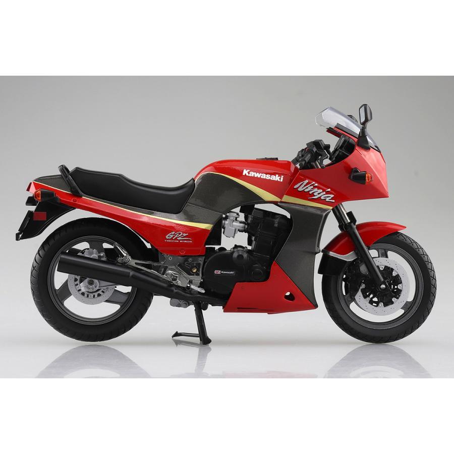 KAWASAKI GPZ900R  (赤/灰)  1/12 完成品バイク #完成品|aoshima-bk|06