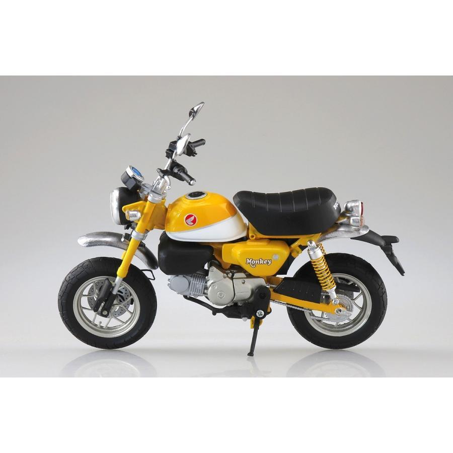 [予約2021年11月発送予定]Honda Monkey 125(バナナイエロー)1/12 完成品バイク #完成品|aoshima-bk|03