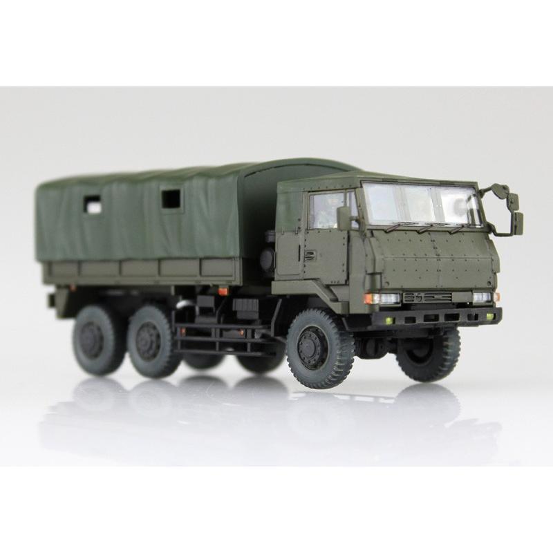 陸上自衛隊 3 1/2t トラック装甲強化型(隊員6体セット) 1/72 ミリタリーモデルキット No.11 #プラモデル|aoshima-bk|03