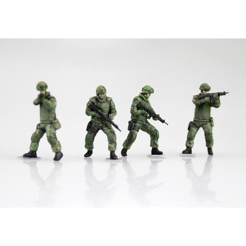 陸上自衛隊 3 1/2t トラック装甲強化型(隊員6体セット) 1/72 ミリタリーモデルキット No.11 #プラモデル|aoshima-bk|06