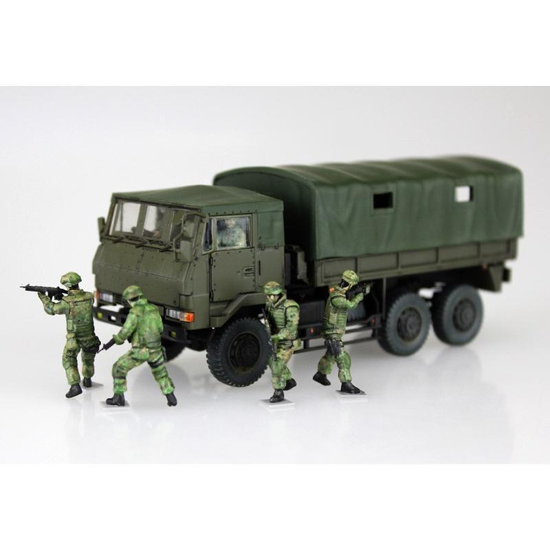 陸上自衛隊 3 1/2t トラック装甲強化型(隊員6体セット) 1/72 ミリタリーモデルキット No.11 #プラモデル|aoshima-bk|07