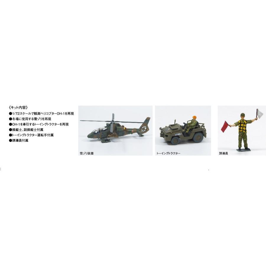 陸上自衛隊 観測ヘリコプター OH−1 ニンジャ&トーイングトラクターセット 1/72 ミリタリーモデルキット No.15 #プラモデル|aoshima-bk|04