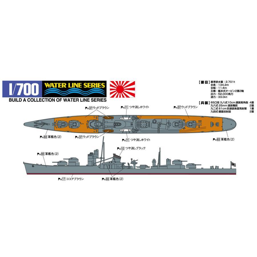 [予約2021年12月再生産予定]日本海軍駆逐艦 照月(てるづき) 1/700 ウォーターライン No.427 #プラモデル|aoshima-bk|03
