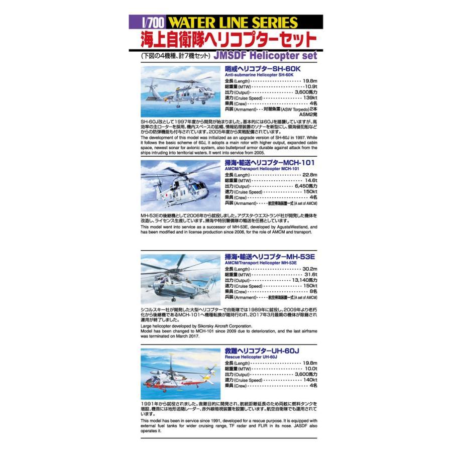 [予約2021年11月再生産予定]海上自衛隊 ヘリコプターセット 1/700 ウォーターライン No.548 #プラモデル|aoshima-bk|02
