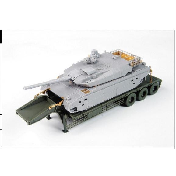 陸上自衛隊 10式戦車&特大セミトレーラー付属 1/72 ミリタリーモデルキット No.16 #プラモデル|aoshima-bk|10
