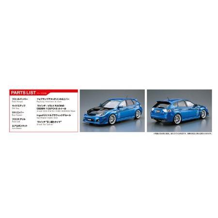 [予約2021年10月再生産予定]ings GRBインプレッサ WRX STI '07(スバル) 1/24 ザ・チューンドカー No.35 #プラモデル aoshima-bk 03