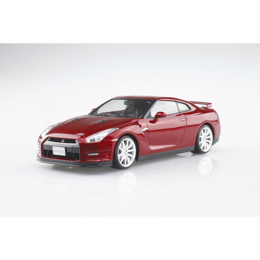 [予約特価2021年12月発送予定]ニッサン R35 GT-R '14 ゴールドフレークレッドパール 1/24プリペイントモデル No. 02-C #プラモデル|aoshima-bk|02