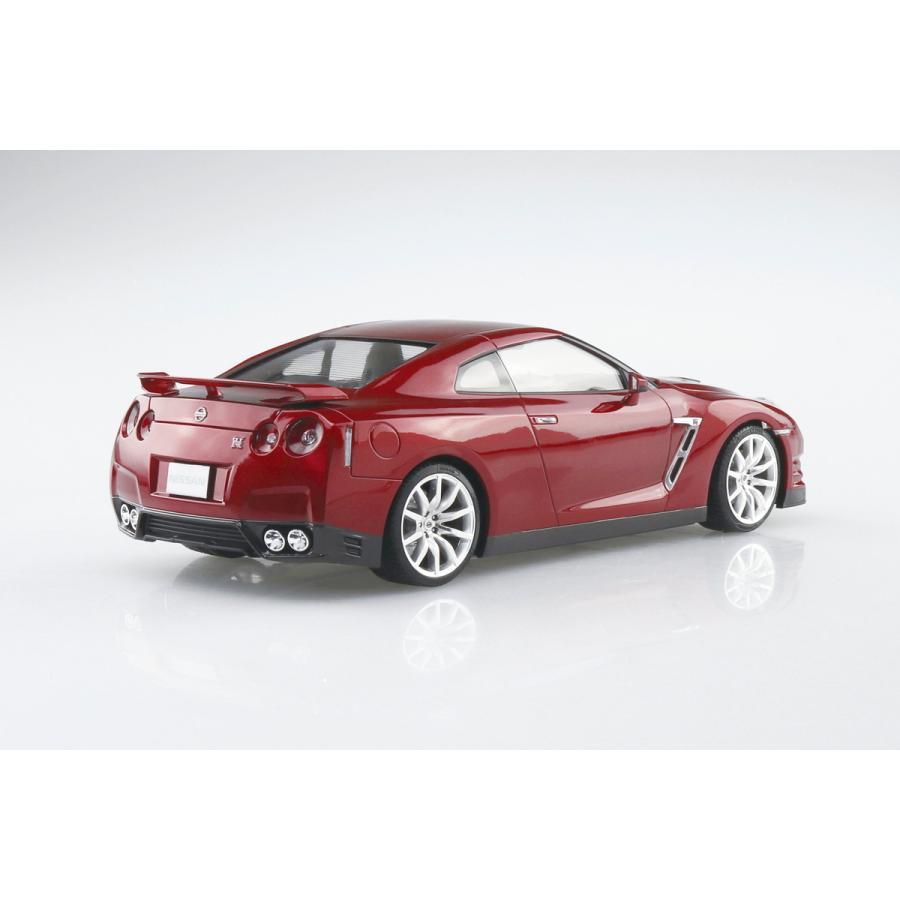 [予約特価2021年12月発送予定]ニッサン R35 GT-R '14 ゴールドフレークレッドパール 1/24プリペイントモデル No. 02-C #プラモデル|aoshima-bk|03